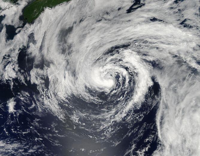 Chris jeszcze jako tropikalna burza, 20 czerwca 2012 roku (NASA)