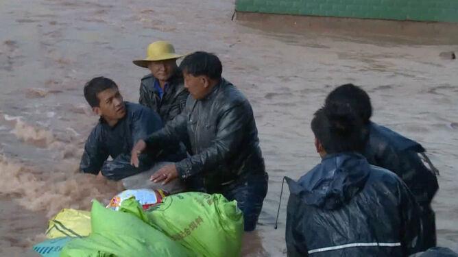 Powodzie sparaliżowały Tybet
