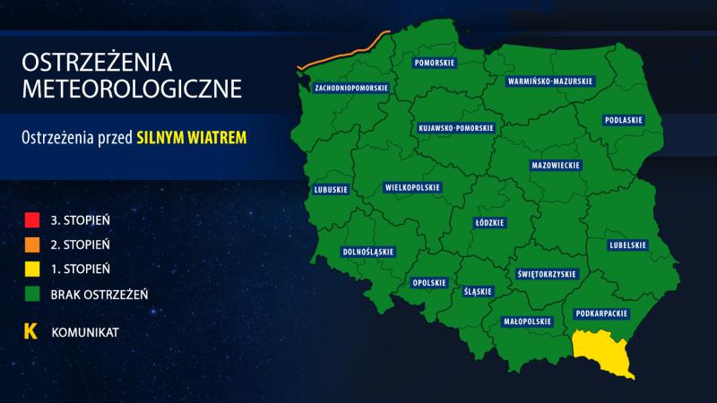 IMGW wydał ostrzeżenia meteorologiczne