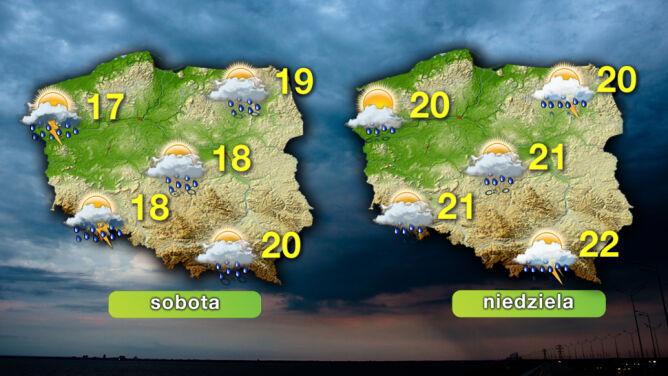 Prognoza pogody na weekend: <br />tydzień zakończy się mokro i deszczowo