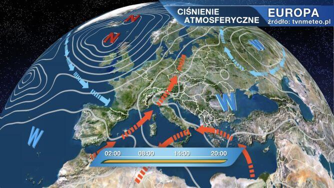 Wyż Yadiger kształtuje pogodę w Polsce