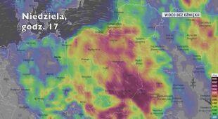 Potencjalne burze w kolejnych dniach (Ventusky.com)